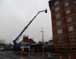 Gutter clearing at 8 storeys high in Coventry