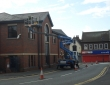 Gutter clearing and repairs including traffic management system Bilston West Midlands
