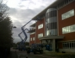 Fascia and gutter cleaning at offices in Northampton